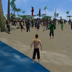 Gathering at Outcast Isle (photo by X Jumper)