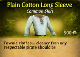 Plain Cotton Long Sleeve