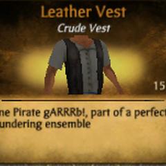 Dark Gray Leather Vest