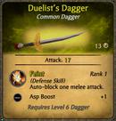 Duelist's Dagger Card
