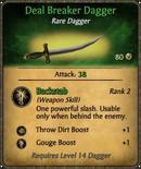 Deal Breaker Dagger Card