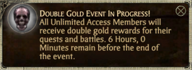 Double Gold Popup - Unlimited only