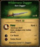 Wilderness dagger