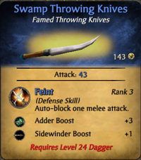 Swamp Throwing Knives