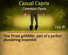 F Casual Capris