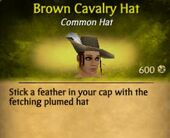 Brown Cavalry Hat