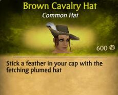 F Brown Cavalry Hat