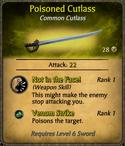 Poisoned Cutlass Card