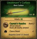 Lieutenant's Cutlass Card