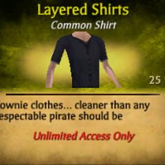 Purple Layered Shirts