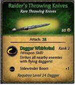 Raider's Throwing Knives