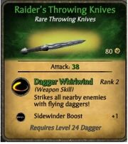 Raider's Throwing Knives