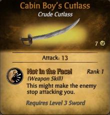 Cabin Boy's Cutlass - clearer