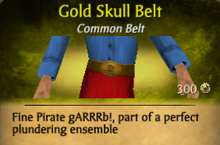 Gold Skull Belt - clearer