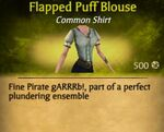 F Flapped Puff Blouse