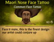 Maori Nose Face Tattoo2