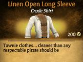 Linen Open Long Sleeve