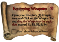 ScrollEquippingWeapons