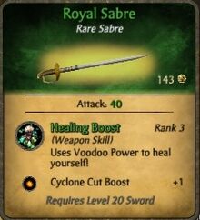 Royal Sabre fixed
