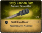 Hasty Cannon Ram Card