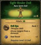 Sight Binder Doll Card