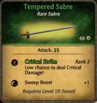 Tempered Sabre 2010-11-23