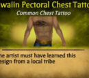 Hawaiian Pectoral Chest Tattoo