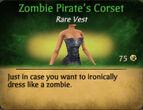 Pirate zombie corset female