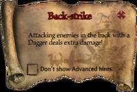Scroll Back-strike