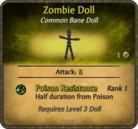 Zombie Doll Card