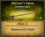 Mariner's Sabre Card