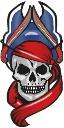 Tattoo arm color skull pirate copy