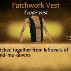Black Patchwork Vest