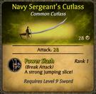 Navy Sergeant's Cutlass Card