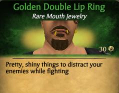 GoldenDoubleLipRing