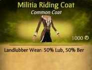 Militia Riding Coat