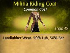 F Militia Riding Coat