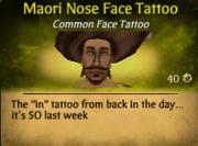 Maori Nose Face Tattoo