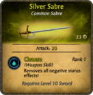 Silver Sabre Card