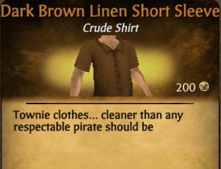 File:Dark Brown Linen Short Sleeve.jpg