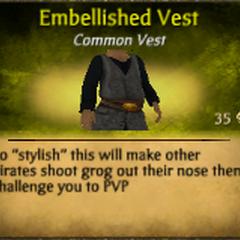 Gray Embellished Vest