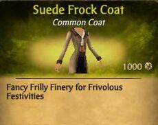 F Suede Frock Coat