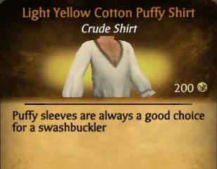 File:Light Yellow Cotton Puffy Shirt.jpg