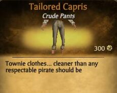 F Tailored Capris