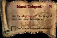 Scroll IslandTeleport