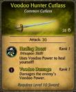 Voodoo Hunter Cutlass Card