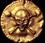 Treasure button coin
