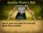 Pirate zombie belt female