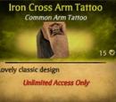 Iron Cross Arm Tattoo