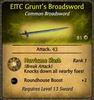 EITC Grunt's Broadsword Card